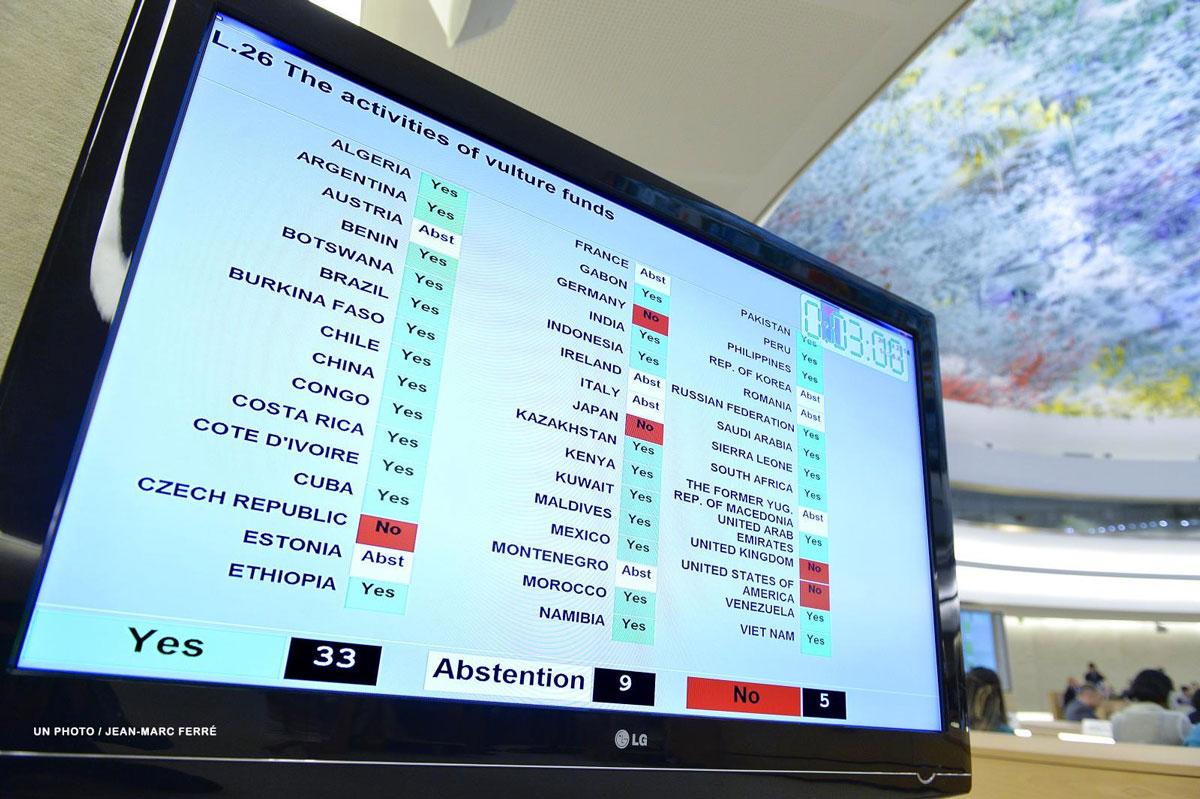 """La ONU condenó a los """"fondos buitre"""" por sus """"efectos negativos"""" para con los derechos humanos"""