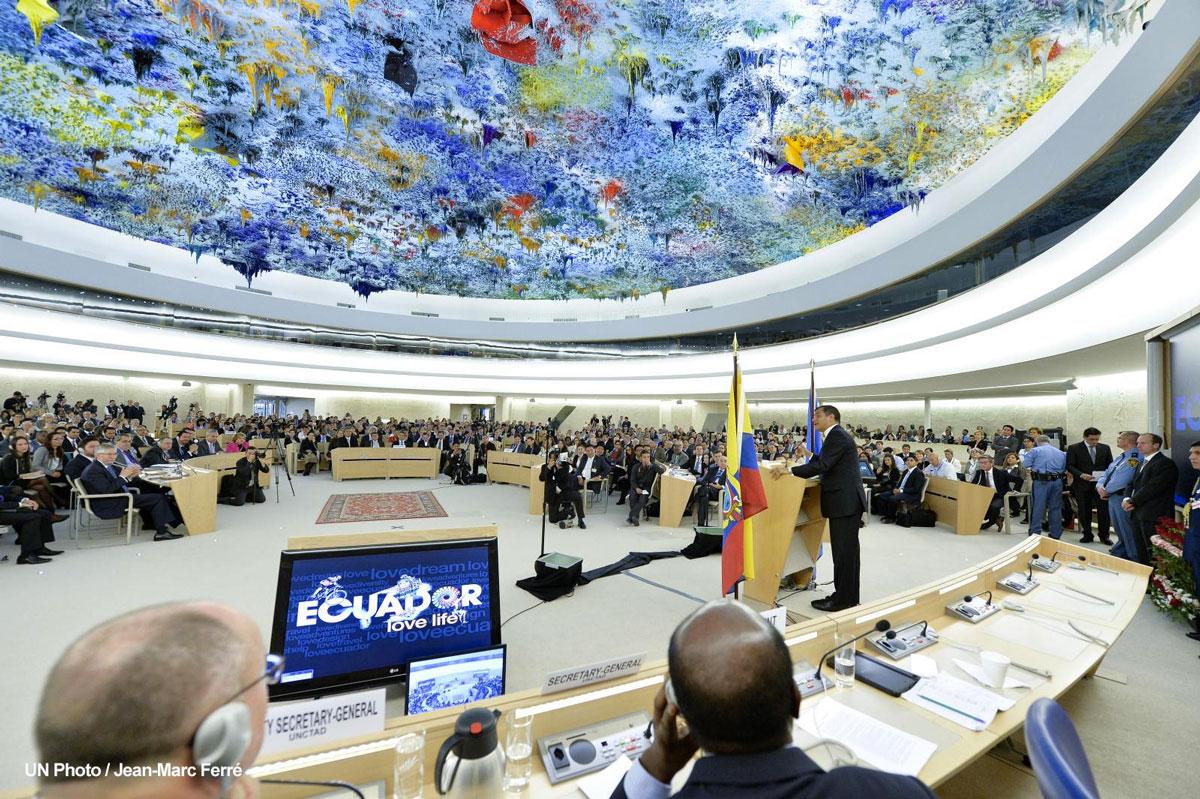 """Rafael Correa expuso ante la ONU logros de """"la revolución ciudadana"""" en Ecuador"""