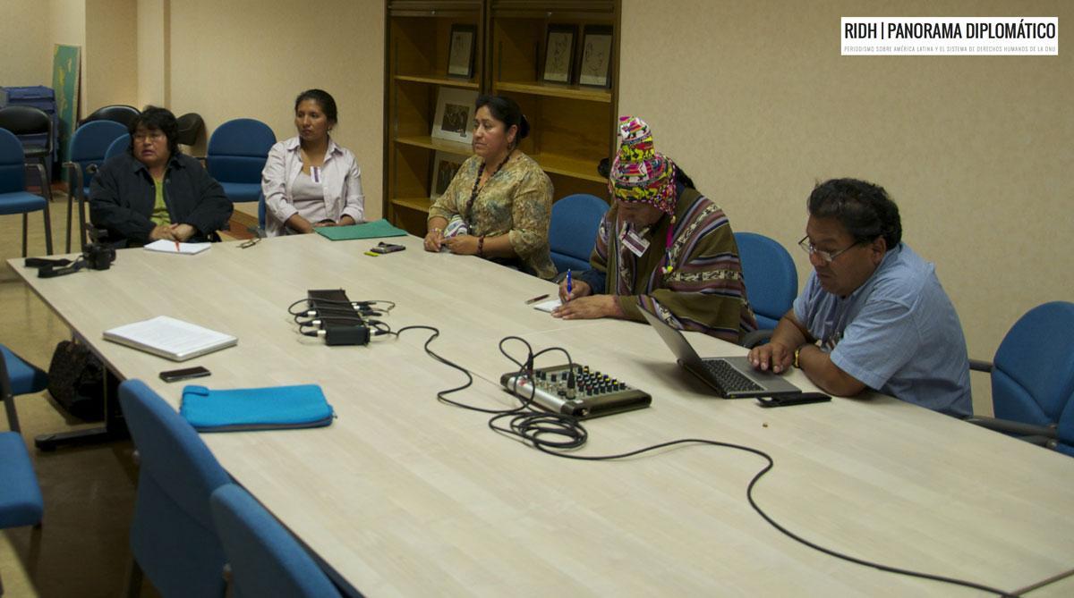 Organizaciones indígenas de Bolivia denunciaron en la ONU irrespeto a derechos humanos