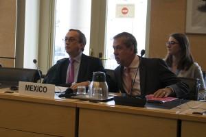 Juan Manuel Gómez Robledo, el jefe de la delegación mexicana y el embajador en Ginebra Jorge Lomónaco
