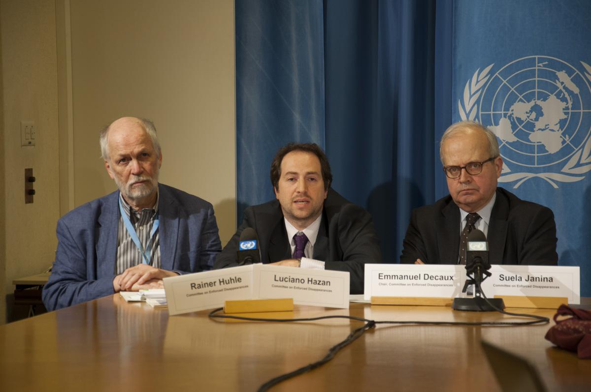 """Comité de la ONU contra las Desapariciones Forzadas """"preocupado por la impunidad"""" en México"""