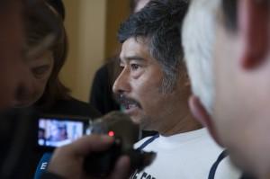 Barnabé Abraján, en declaraciones ante la prensa en Ginebra