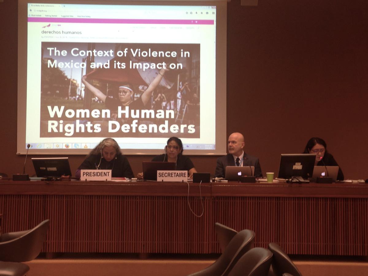 Defensoras de derechos humanos mexicanas denuncian en la ONU falta de garantías para ejercer su labor