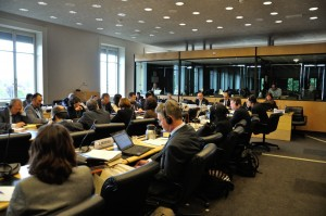 Sala de sesiones del Comité de Derechos Humanos, en el Palacio Wilson