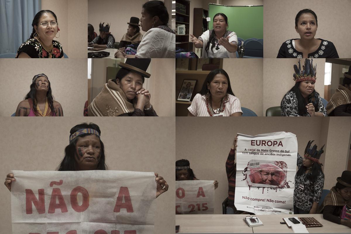 """""""No hay espacio para nosotras en el Foro"""": mujeres indígenas"""