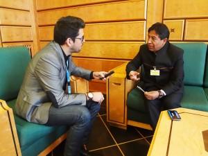 Entrevista concedida a Panorama, en la sede de la ONU en Ginebra.