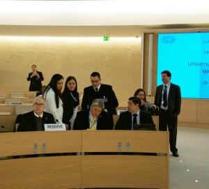 Miembros de la delegación oficial de Paraguay previo al inicio del EPU.