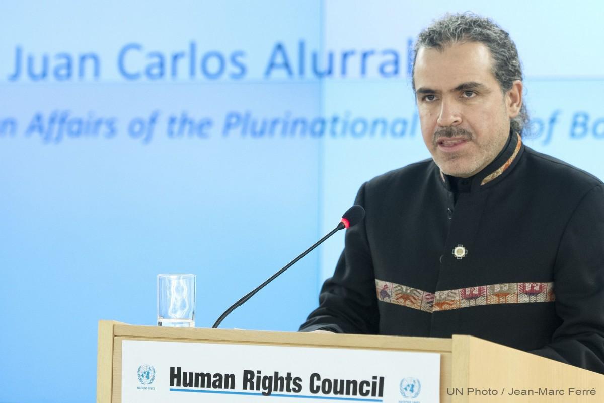 Bolivia pide evaluar en la ONU impacto de las redes sociales sobre los derechos humanos