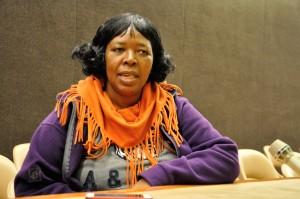 Elizabeth Mpofu, representante de la organización La Vía Campesina en África.