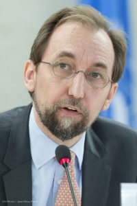 Zeid Ra'ad Al Hussein, Alto Comisionado de la ONU para los Derechos Humanos.