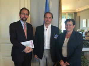 Zeid Ra'ad Al Hussein (ACNUDH), Carlos Beristain y Claudia Paz y Paz (GIEI)