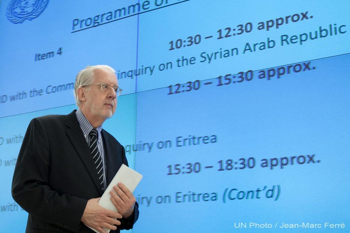 """Paulo Pinheiro: """"Todos los Estados deben abogar por la paz en Siria"""""""
