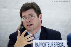 François  Crépeaux, Relator Especial de la ONU sobre los derechos de los migrantes.