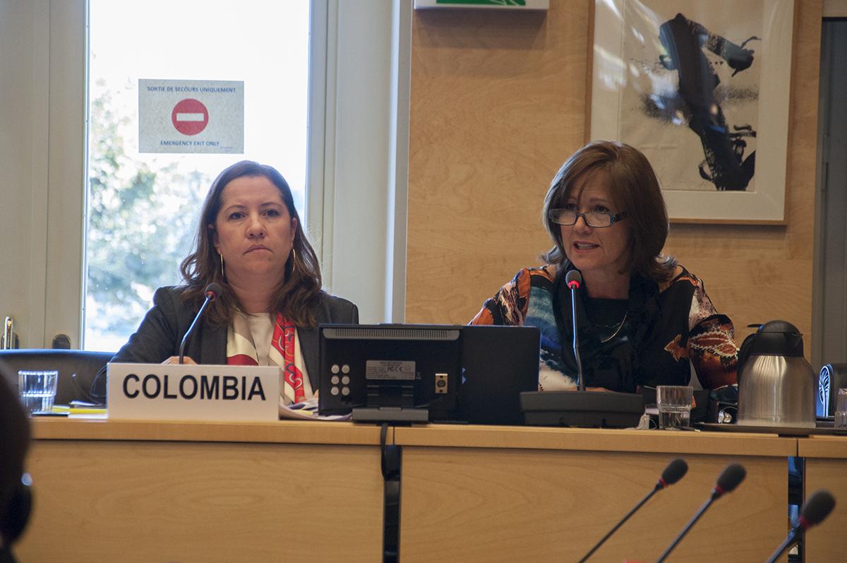 Paula Gaviria, consejera presidencial, y Beatriz Londoño Soto, embajadora de Colombia en Ginebra