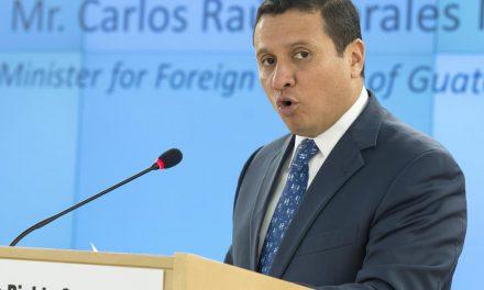 El canciller de Guatemala habló en Naciones Unidas de la reforma a la justicia