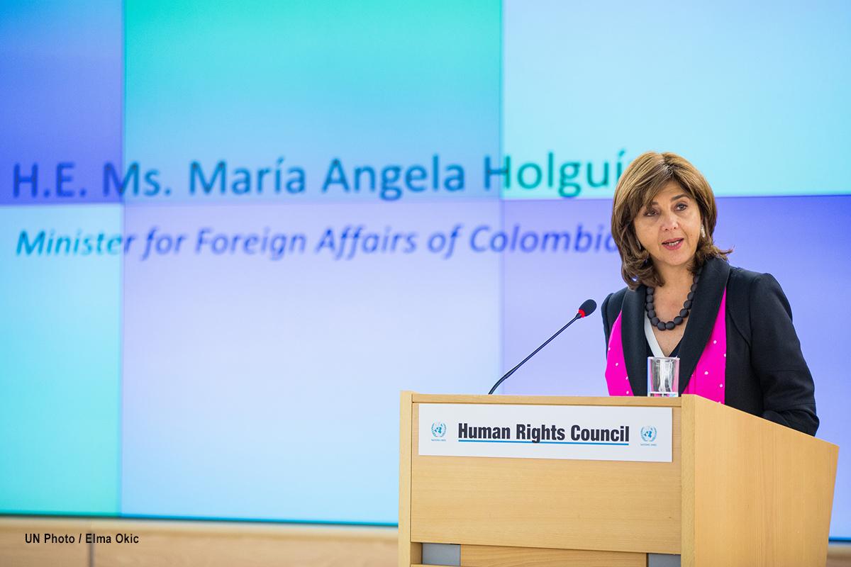 María Ángela Holguín, canciller de Colombia