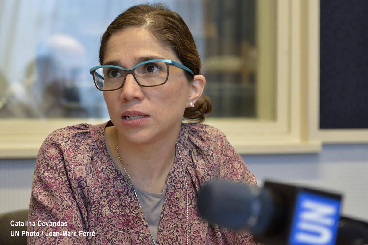 Catalina Devandas, relatora especial sobre los derechos de las personas con discapacidad.
