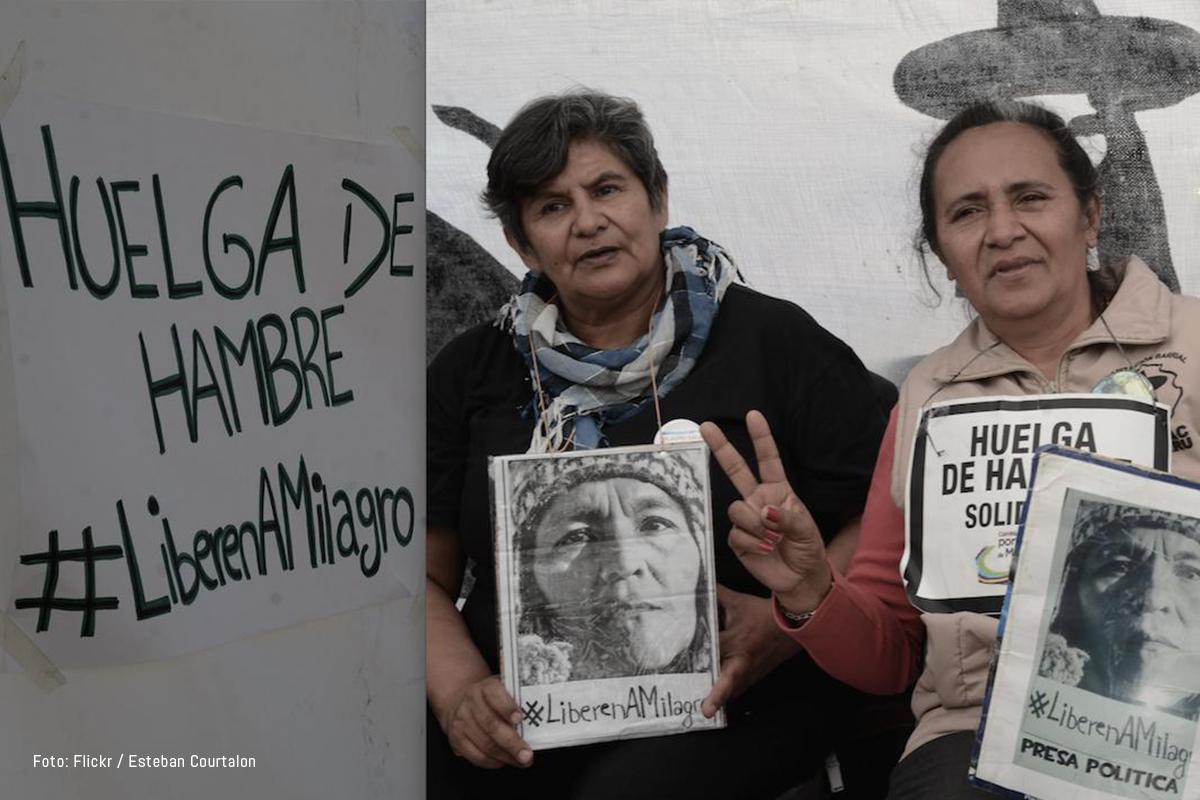 Protestas Milagro Sala. Foto: Esteban Courtalon