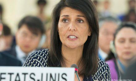 Nikki Haley addresses the Human Rights Council, challenging Venezuela's membership