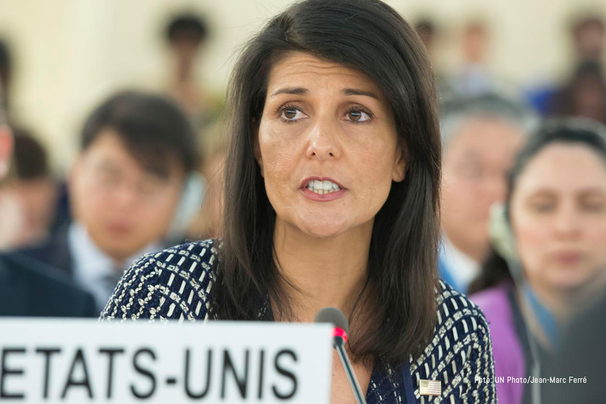 Nikki Haley, US Permanent Representative to the United Nations. UNPhoto