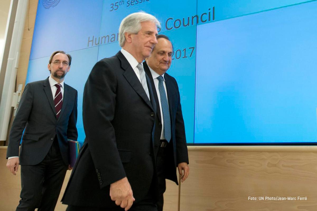 Tabaré Vázquez, presidente de Uruguay. UNPhoto