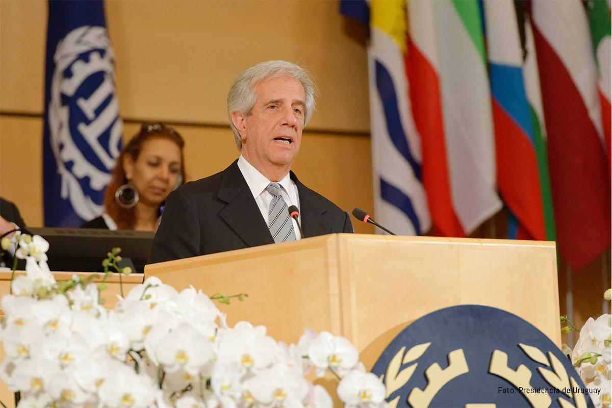 Tabaré Vázquez OIT. Foto: Presidencia de Uruguay