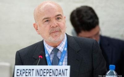 Relator de la ONU denuncia falta de determinación para implementar el Acuerdo de Paz