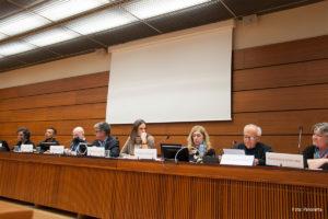 Panel sobre defensores de derechos humanos en Colombia, Ginebra, 2019. Foto: Panorama