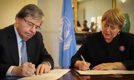 Michelle Bachelet celebra la renovación del mandato de su oficina en Colombia