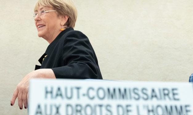 """""""Los derechos humanos son la vacuna contra el hambre, la pobreza y la desigualdad"""": Bachelet"""